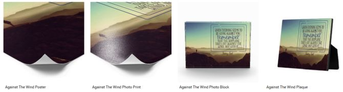 Inspirational Downloads Customized Products: Against The Wind