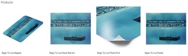 Inspirational Downloads Customized Products: Begin To Live