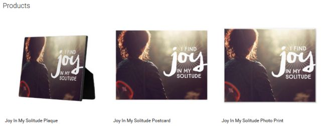 Inspirational Downloads Customized Products: Joy In My Solitude