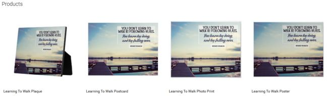 Inspirational Downloads Customized Products: Learning To Walk