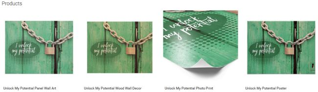 Inspirational Downloads Customized Products: Unlock My Potential Customized Products