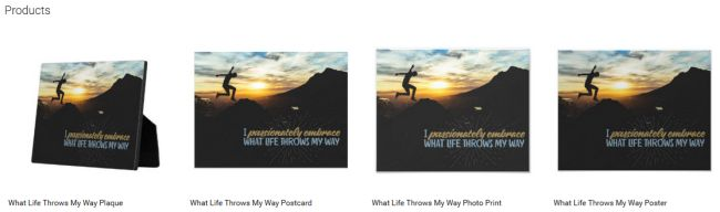 Inspirational Downloads Customized Products: What Life Throws My Way