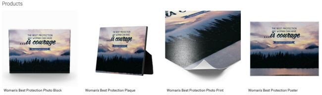 Inspirational Downloads Customized Products: Woman's Best Protection