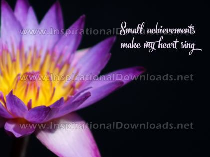 Small Achievements by Positive Affirmations (Inspirational Graphic Quote by Inspirational Downloads)