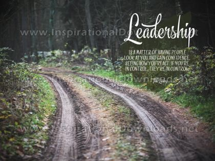 Leadership by Tom Landry (Inspirational Graphic Quote by Inspirational Downloads)