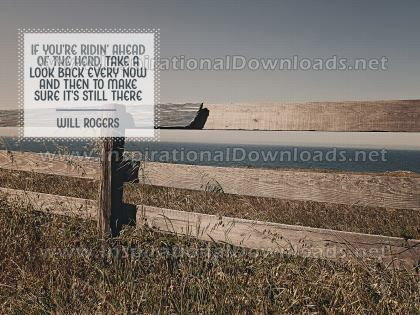Take A Look Back by Will Rogers (Inspirational Graphic Quote by Inspirational Downloads)
