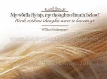 Words Without Thoughts by William Shakespeare (Inspirational Graphic Quote by Inspirational Downloads)