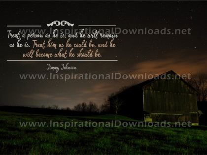 Becoming What He Should Be by Jimmy Johnson (Inspirational Graphic Quote by Inspirational Downloads)