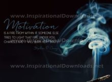 Inspirational Quote: A Fire From Within by Stephen Covey (Inspirational Downloads)