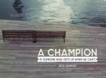 Inspirational Graphic Quote: A Champion by Jack Dempsey (Inspirational Downloads)