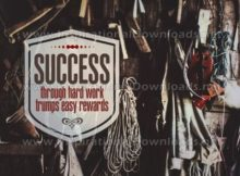 Inspirational Graphic Quote: Success Through Hard Work by Positive Affirmations (Inspirational Downloads)