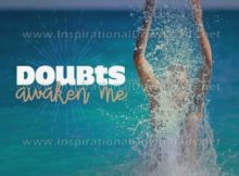Doubts Awaken Me by Positive Affirmations (Inspirational Graphic Quote by Inspirational Downloads)
