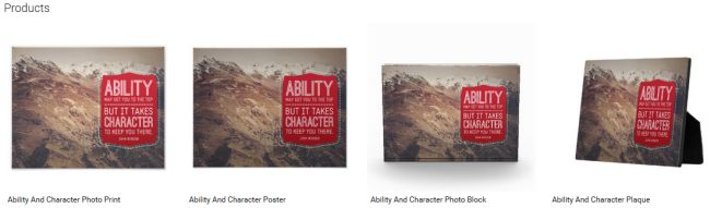 Ability And Character (Inspirational Downloads Customized Products)