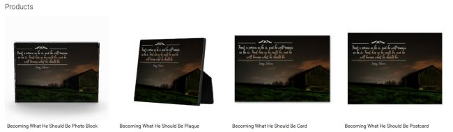 Becoming What He Should Be (Inspirational Downloads Customized Products)