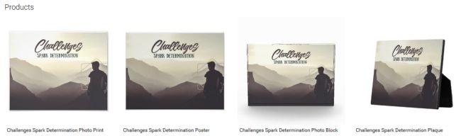 Challenges Spark Determination (Inspirational Downloads Customized Products)