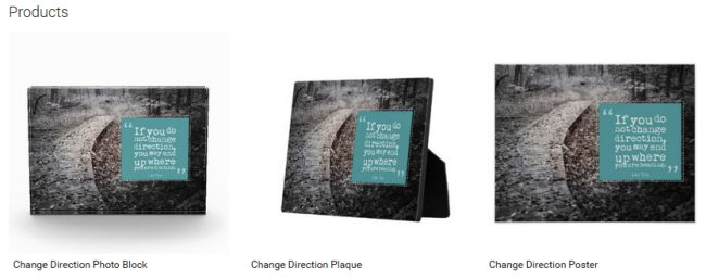 Change Direction (Inspirational Downloads Customized Products)