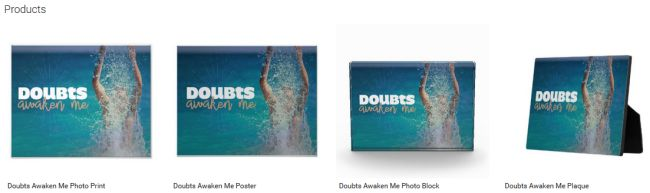 Doubts Awaken Me (Inspirational Downloads Customized Products)