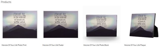Heroine Of Your Life (Inspirational Downloads Customized Products)