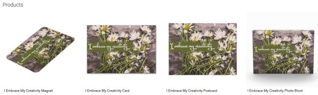 I Embrace My Creativity (Inspirational Downloads Customized Products)