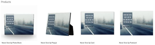 Never Give Up (Inspirational Downloads Customized Products)
