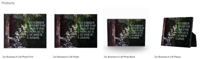 Inspirational Downloads Customized Products: Our Business In Life