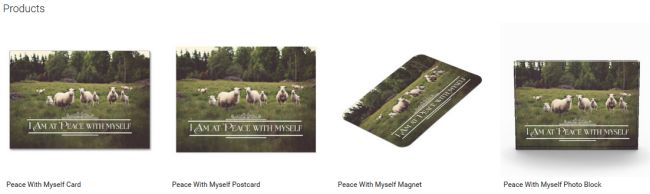 Peace With Myself (Inspirational Downloads Customized Products)