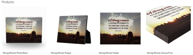 Inspirational Downloads Customized Products: Strong Woman