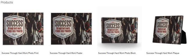 Inspirational Downloads Customized Products: Success Through Hard Work