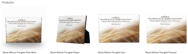 Words Without Thoughts (Inspirational Downloads Customized Products)