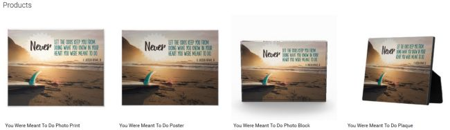 Inspirational Downloads Customized Products: You Were Meant To Do