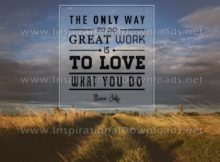 Way To Do Great Work by Steve Jobs (Inspirational Graphic Quote by Inspirational Downloads)