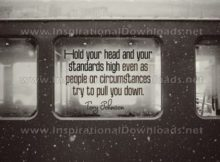 Trying To Pull You Down by Tory Johnson (Inspirational Graphic Quote by Inspirational Downloads)