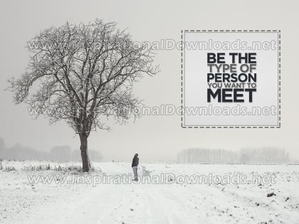 Type of Person by Anonymous (Inspirational Graphic Quote by Inspirational Downloads)