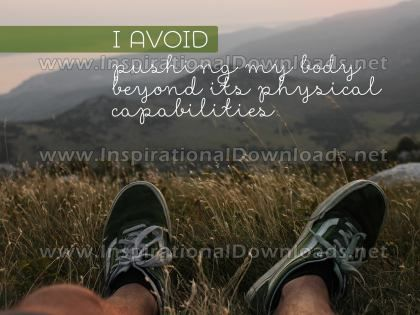Pushing My Body by Positive Affirmations (Inspirational Graphic Quote by Inspirational Downloads)