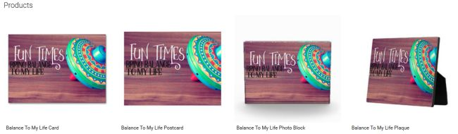 Balance To My Life (Inspirational Downloads Customized Products)