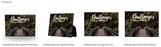 Challenges Spark My Imagination (Inspirational Downloads Customized Products)