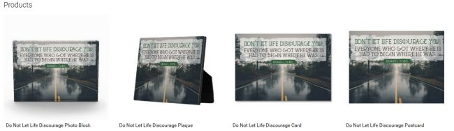 Do Not Let Life Discourage (Inspirational Downloads Customized Products)