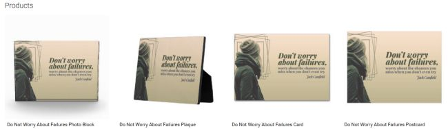 Do Not Worry About Failures (Inspirational Downloads Customized Products)