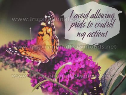 Control My Actions by Positive Affirmations (Inspirational Graphic Quote by Inspirational Downloads)