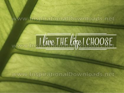 Live The Life by Positive Affirmations (Inspirational Graphic Quote by Inspirational Downloads)