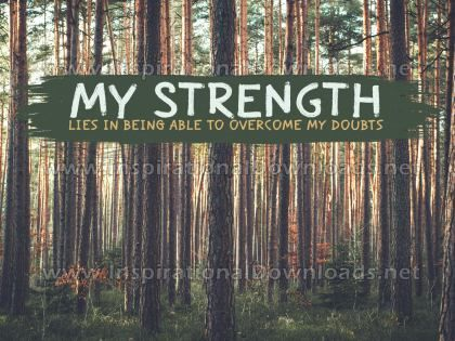 My Strength by Positive Affirmations (Inspirational Graphic Quote by Inspirational Downloads)