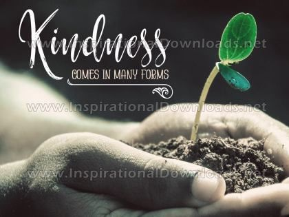 Kindness by Positive Affirmations (Inspirational Graphic Quote by Inspirational Downloads)
