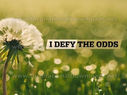 Defy The Odds by Positive Affirmations (Inspirational Graphic Quote by Inspirational Downloads)