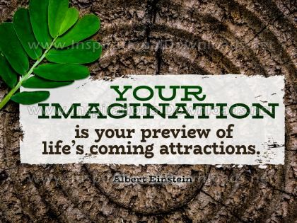 Imagination by Albert Einstein (Inspirational Graphic Quote by Inspirational Downloads)