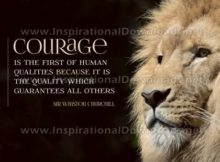 Courage by Sir Winston Churchill (Inspirational Graphic Quote by Inspirational Downloads)