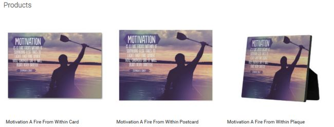 Motivation A Fire From Within (Inspirational Downloads Customized Products)