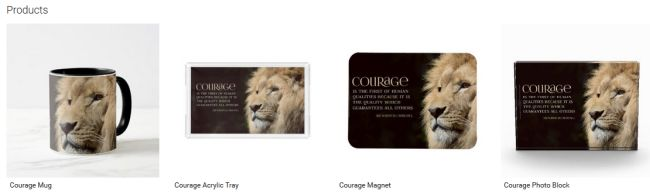 Courage (Inspirational Downloads Customized Products)
