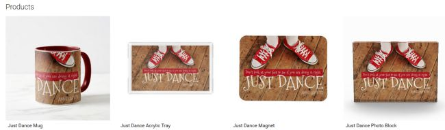 Just Dance (Inspirational Downloads Customized Products)