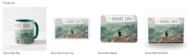 Bounce Back (Inspirational Downloads Customized Products)