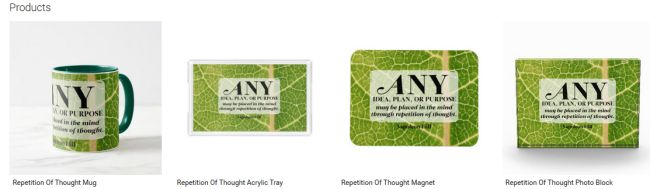 Repetition Of Thought (Inspirational Downloads Customized Products)